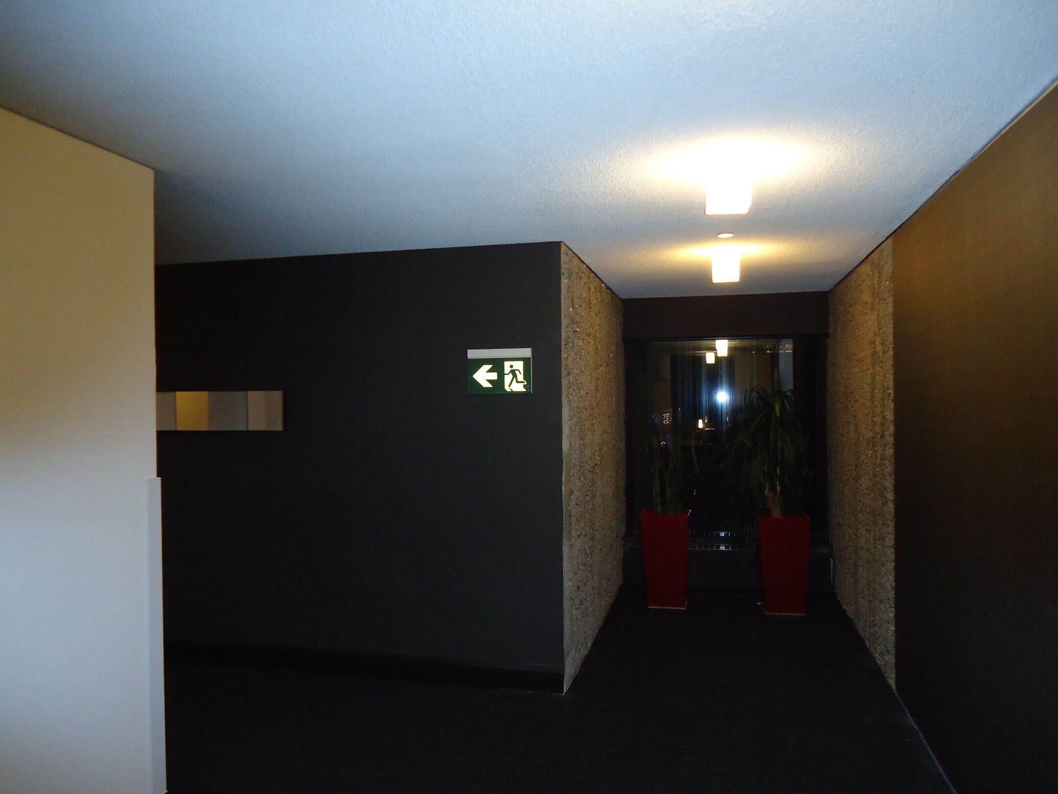 Bonaventure Hotel exit sign