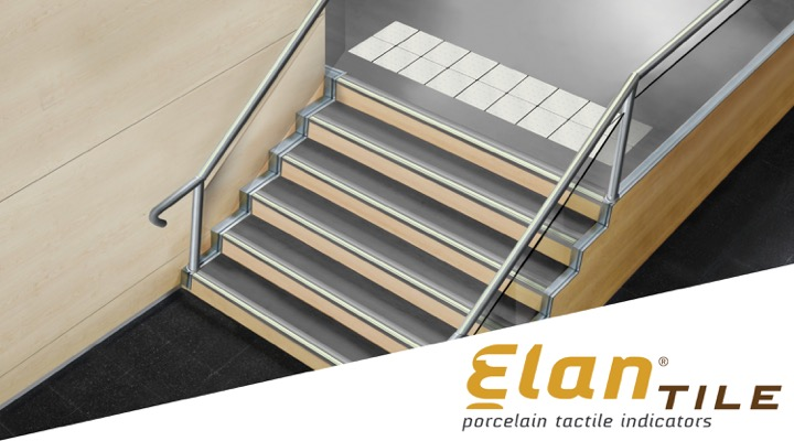 ELAN TILE Ultimate Porcelain Tactile Indicator - Best Materials - Kinesik