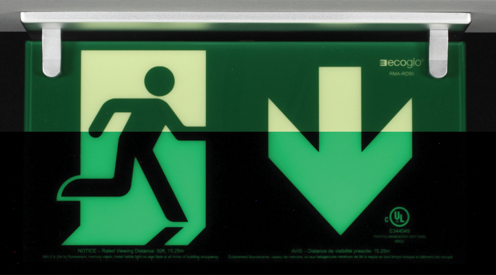 Ecoglo Exit Signs Kinesik Leading Accessibility