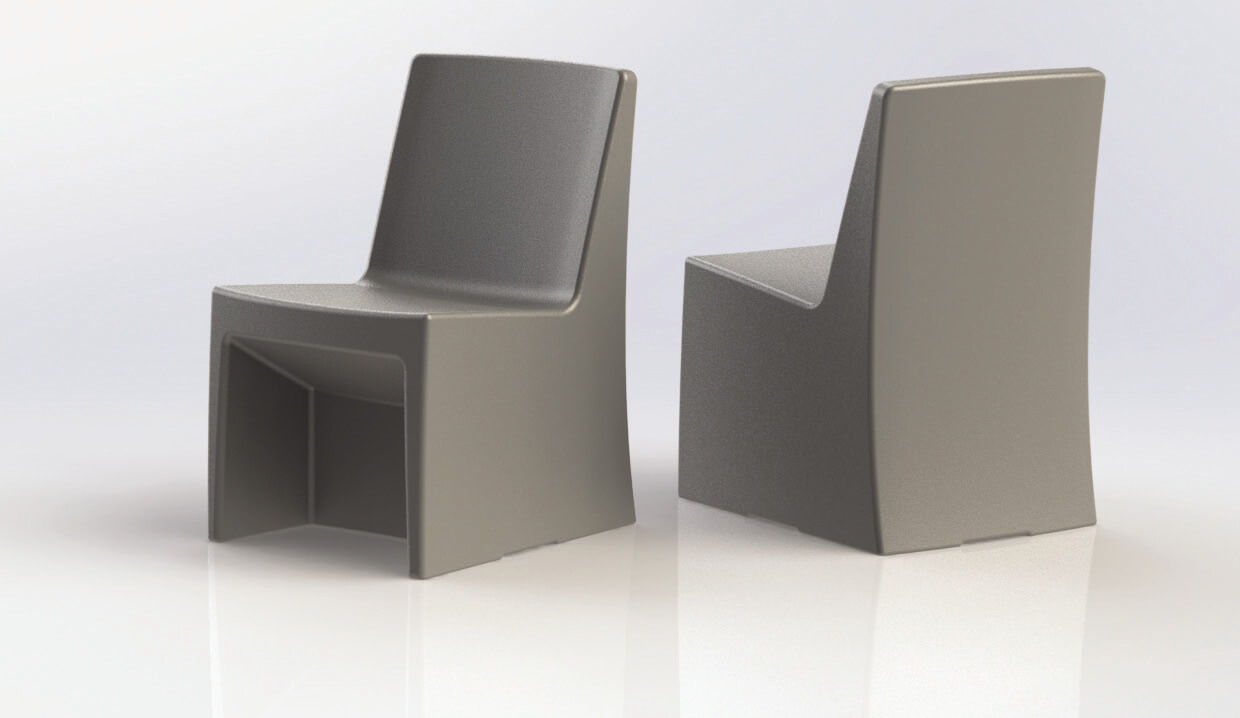 MAX-SECURE® ESTILO ARMLESS CHAIR